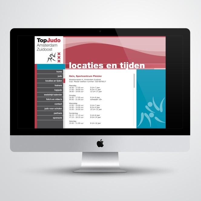 website gemaakt door Kat Design voor Topjudo