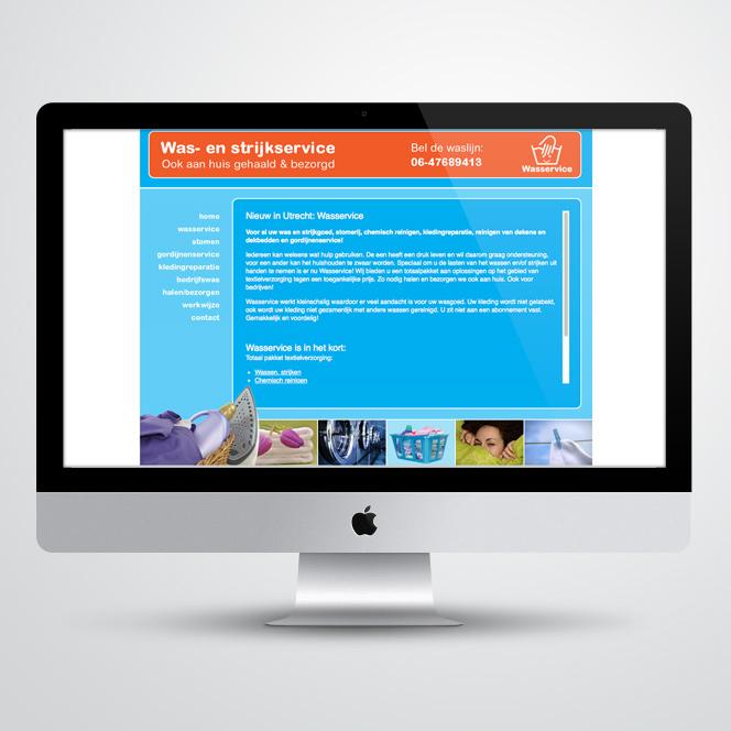 website gemaakt voor Wasservice