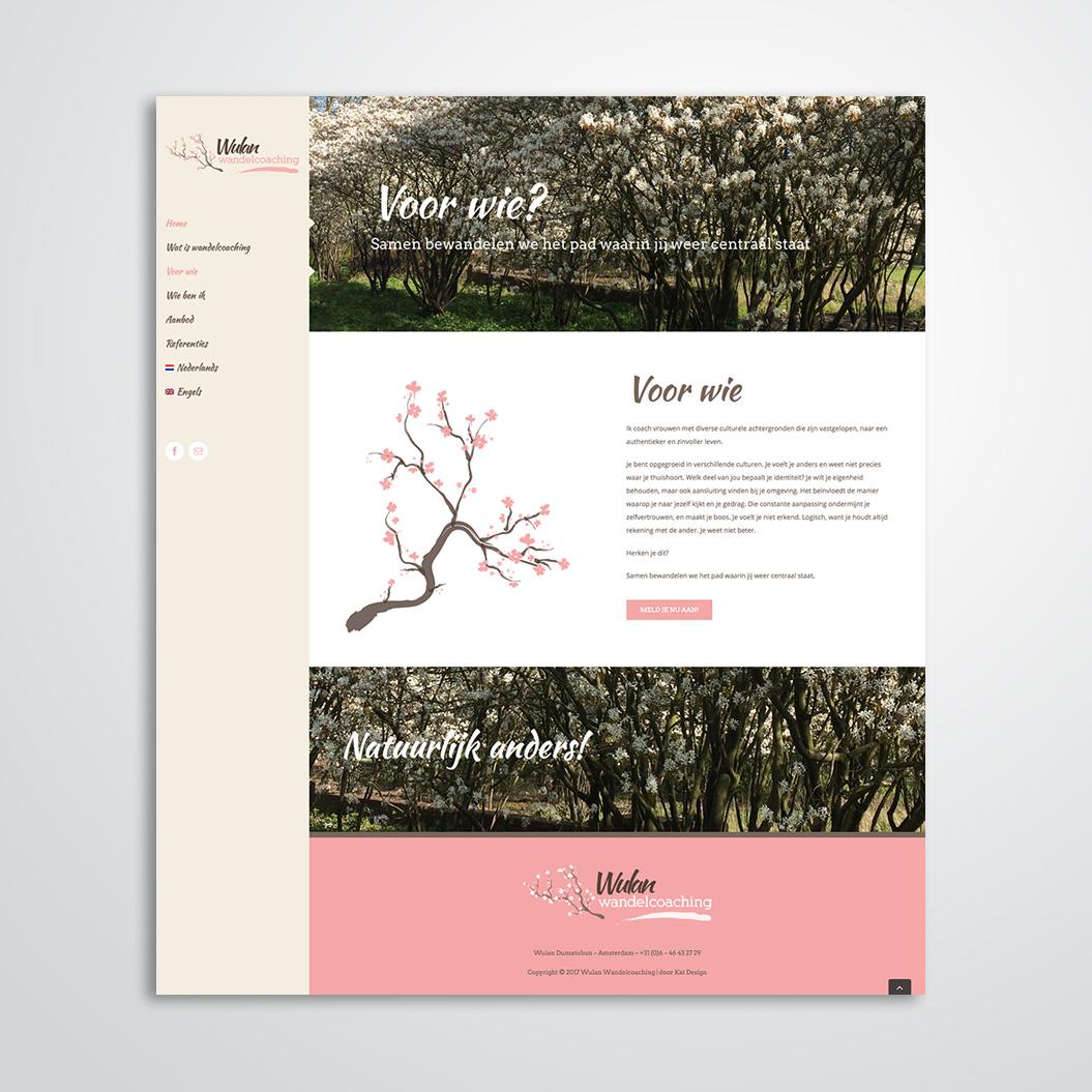 website gemaakt door Kat Design voor Wulan Wandelcoaching