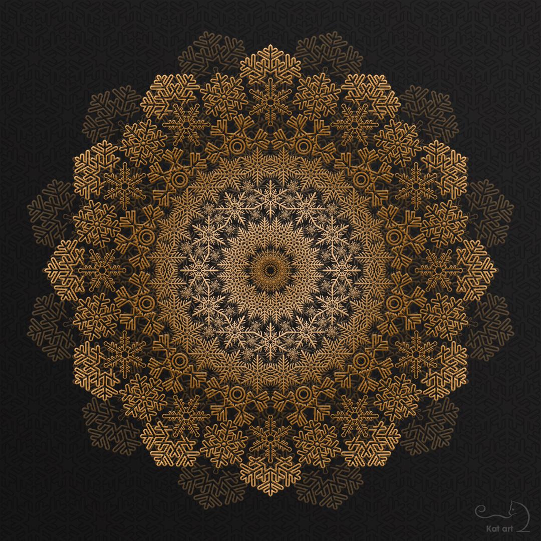 kerstster mandala gemaakt door Kat-Art