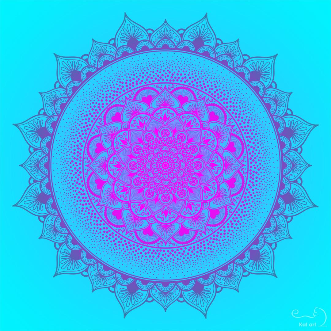 mandala bloem gemaakt door Kat-Art