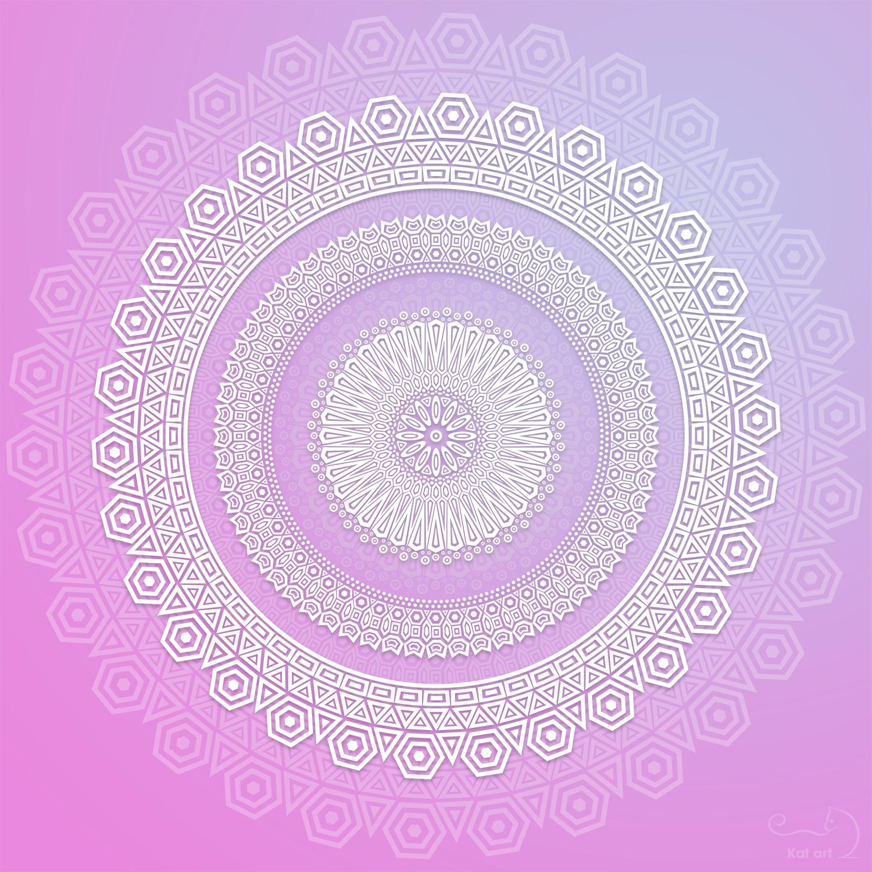 geometric mandala gemaakt door Kat-Art