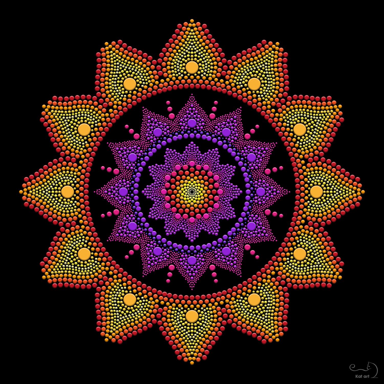 dot-mandala gemaakt door Kat-Art