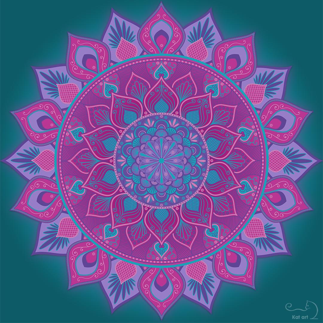 bloem mandala gemaakt door Kat-Art