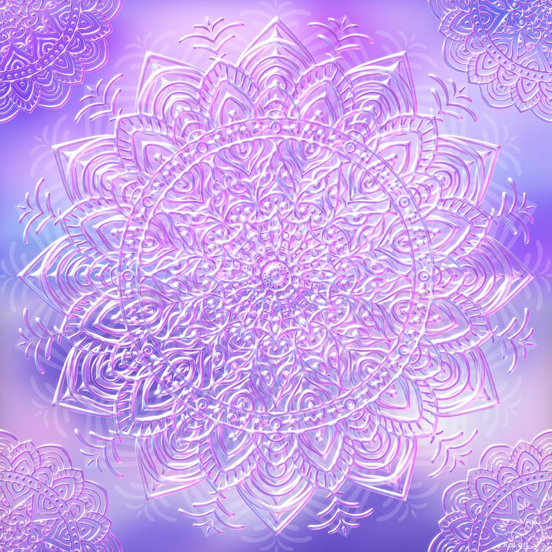 bubble mandala gemaakt door Kat-Art