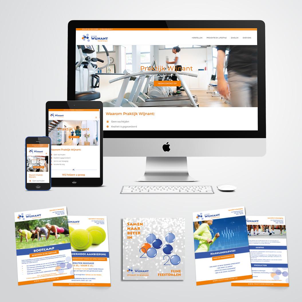 Website en flyers gemaakt door Kat Design voor Praktijk Wijnant