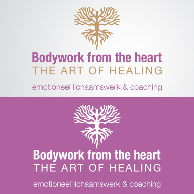 Logo gemaakt door Kat Design voor Bodywork from the heart