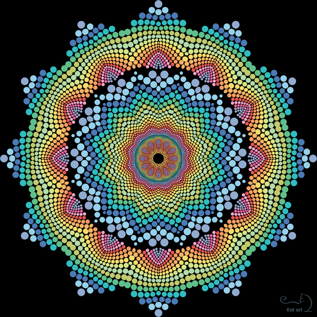 mosaic mandala gemaakt door Kat-Art