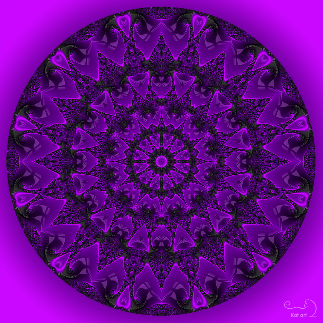 fractal mandala gemaakt door Kat-Art