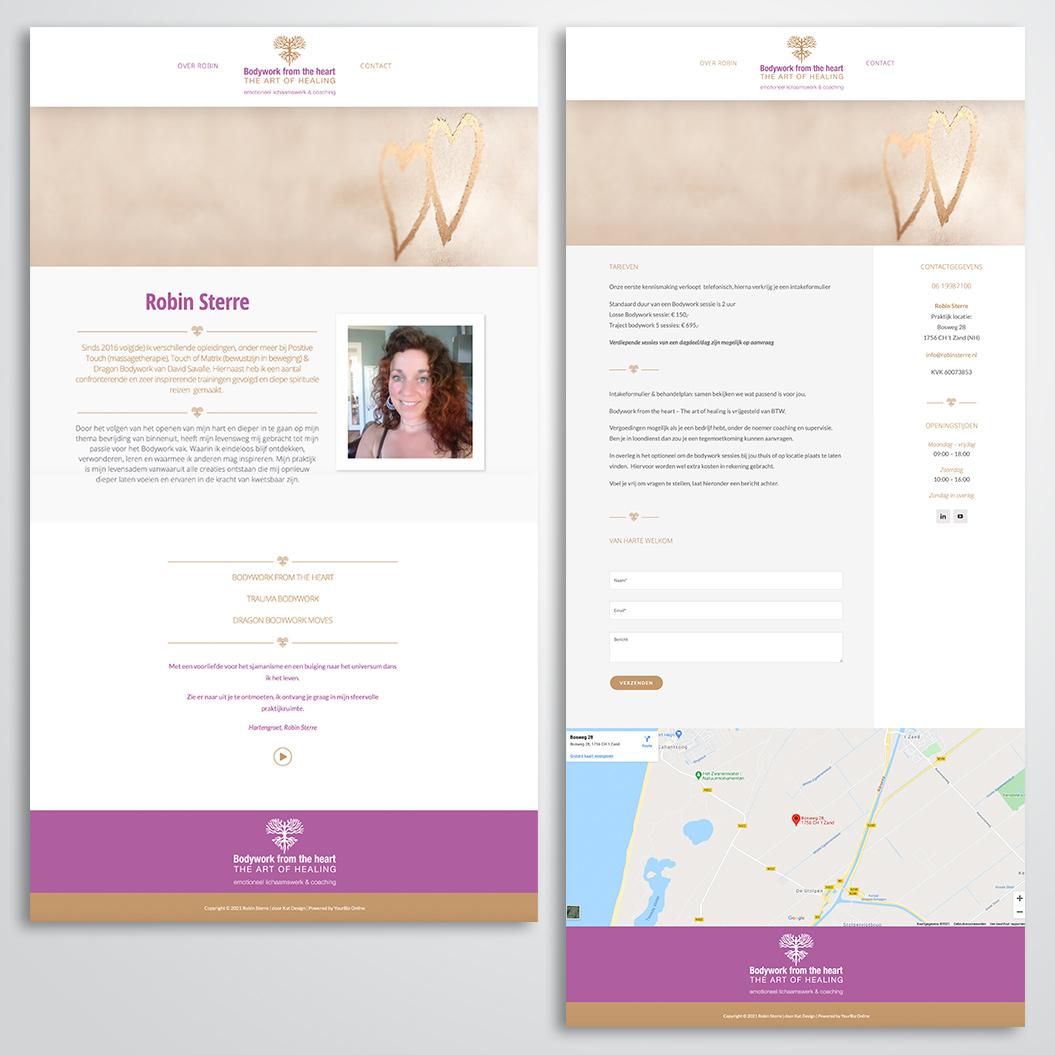 Nieuwe website gemaakt door Kat Design voor Bodywork from the heart