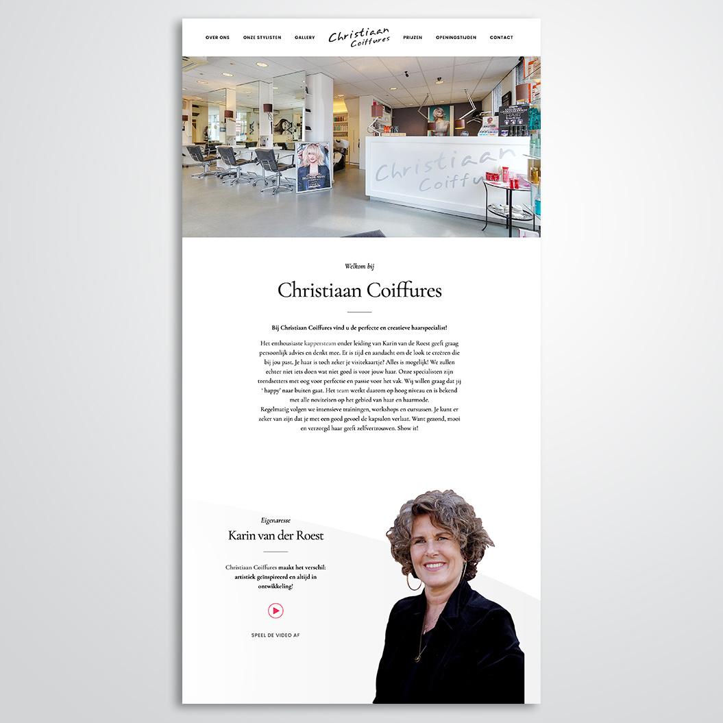 Nieuwe website gemaakt door Kat Design voor Christiaan Coiffures