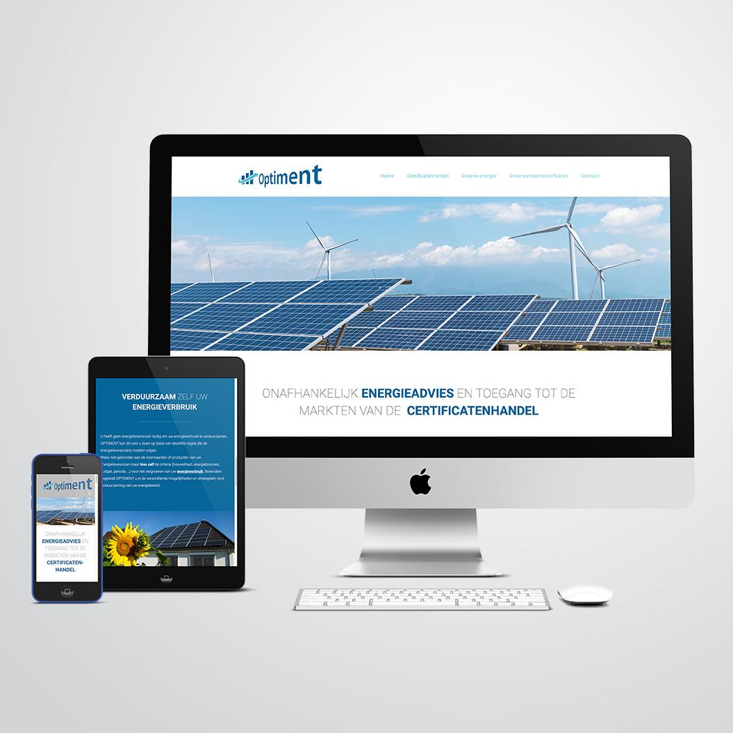 Nieuwe website gemaakt door Kat Design voor Optiment