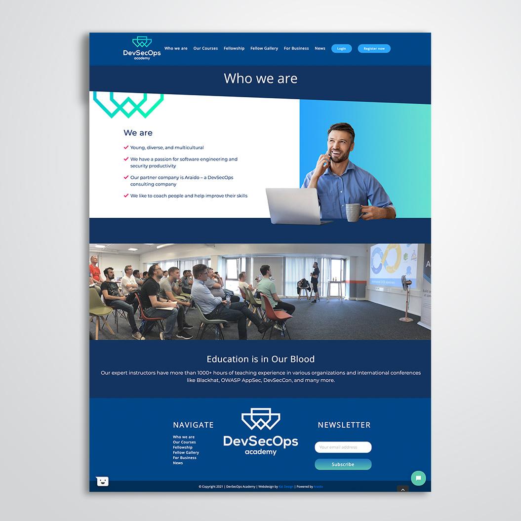 Nieuwe website gemaakt door Kat Design voor DevSecOps Academy