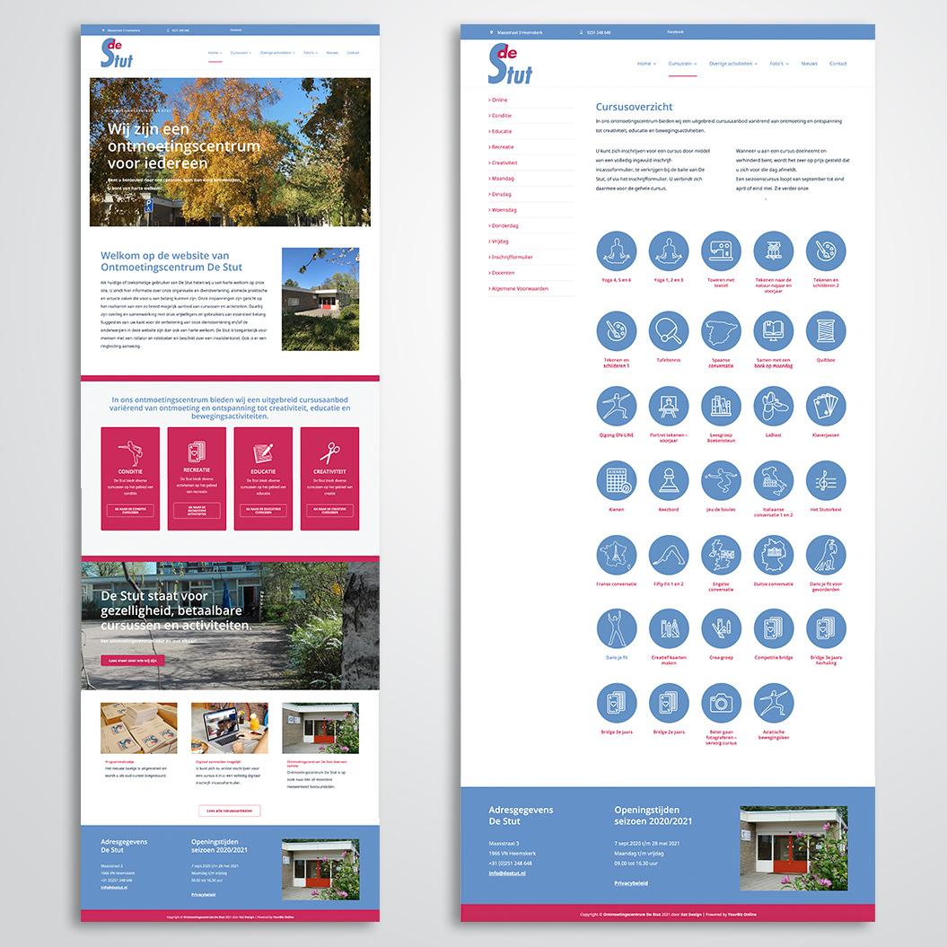 Nieuwe website gemaakt door Kat Design voor ontmoetingscentrum de Stut