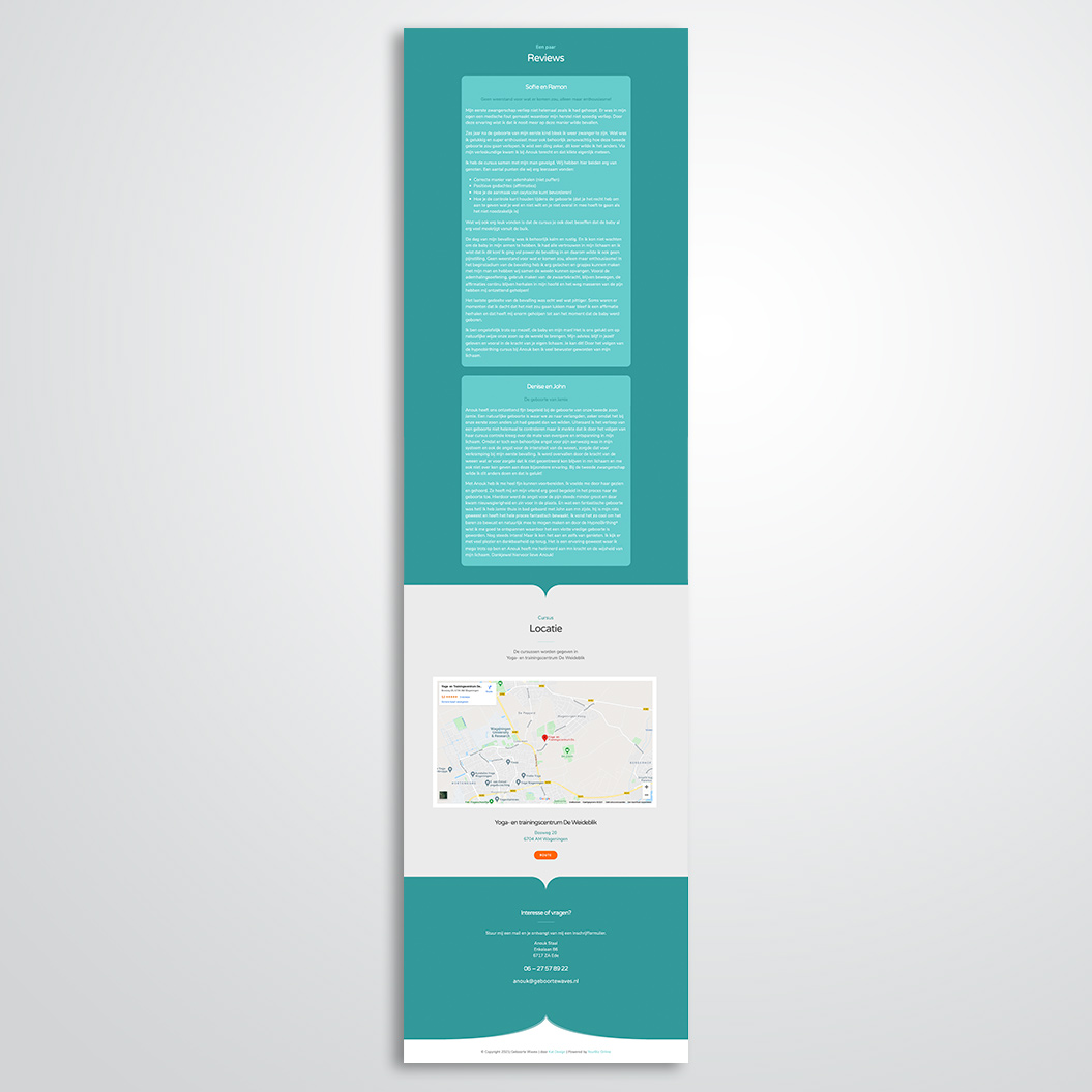 Website gemaakt door Kat Design voor Geboorte Waves