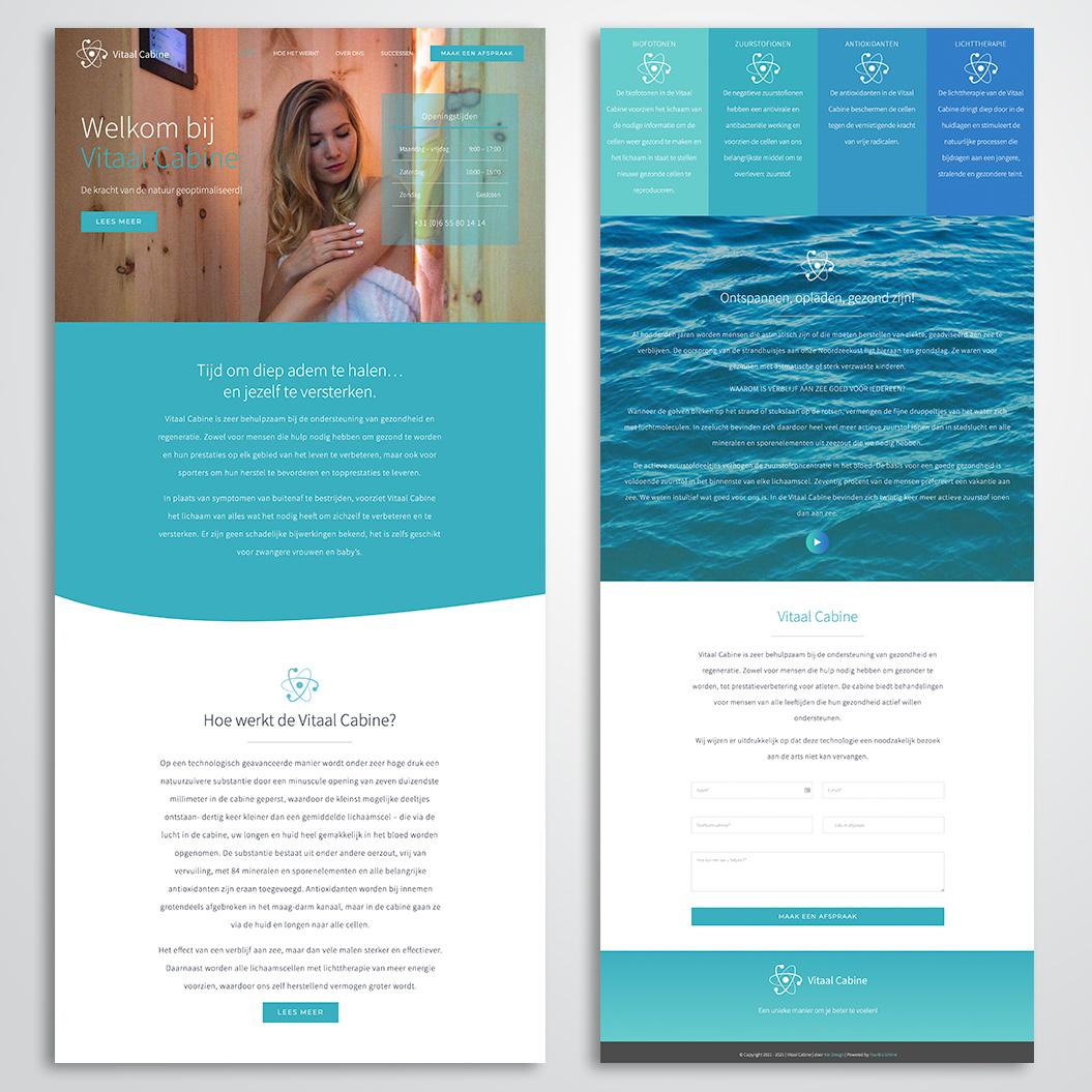 Website gemaakt door Kat Design voor Vitaal Cabine